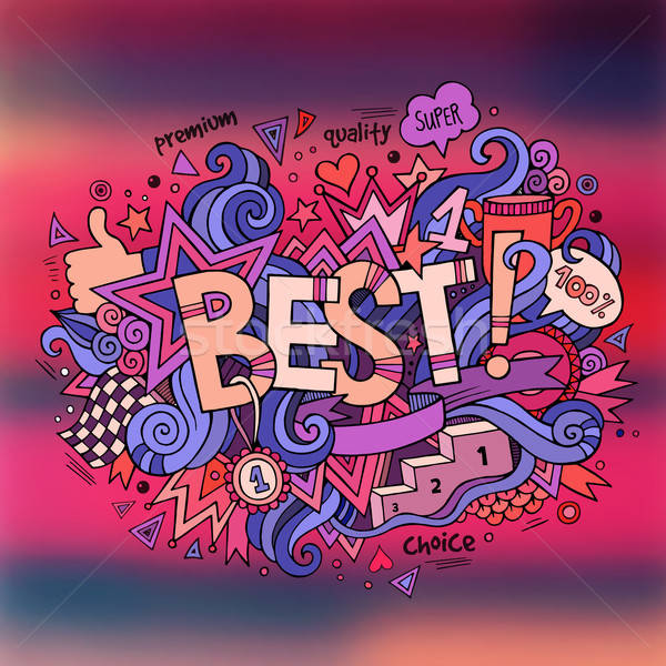 Best hand lettering and doodles elements background. Vector blur Stock photo © balabolka