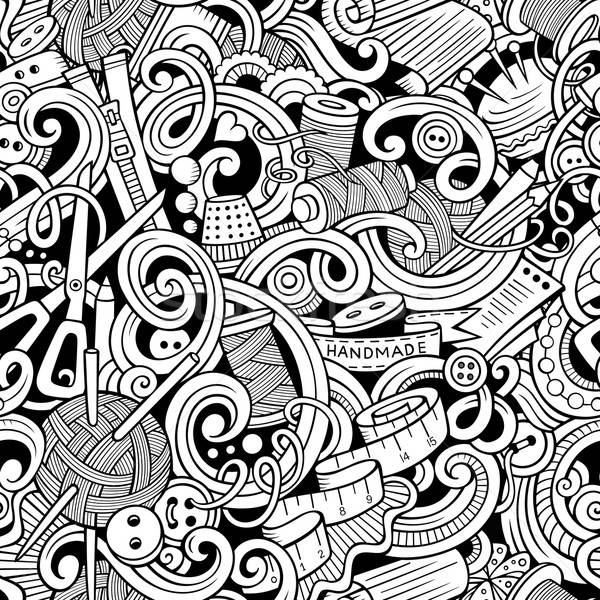 漫畫 手工製造 縫紉 塗鴉 線 商業照片 © balabolka