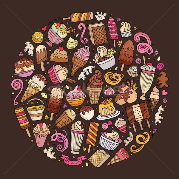 集 冰淇淋 漫畫 塗鴉 對象 商業照片 © balabolka