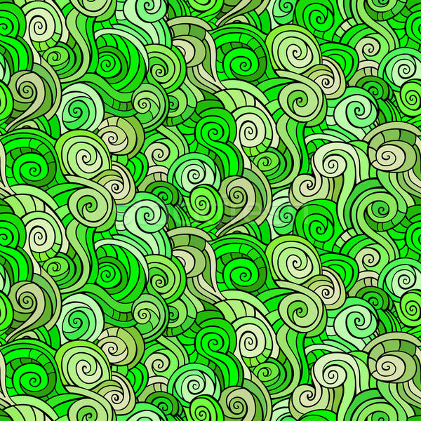 Seamless abstract pattern with waves and curls. Stock photo © balabolka