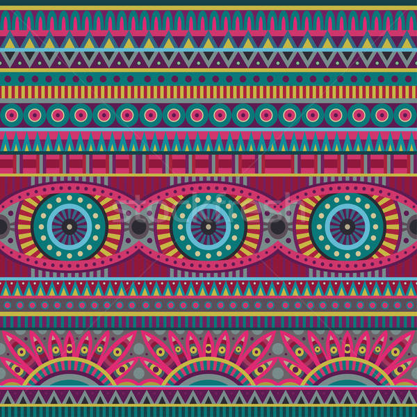 抽象的な ベクトル 部族 民族 デザイン ストックフォト © balabolka