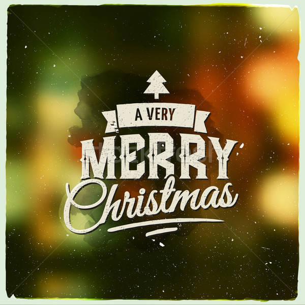 Merry Christmas creative graphic message for winter design Stock photo © balabolka