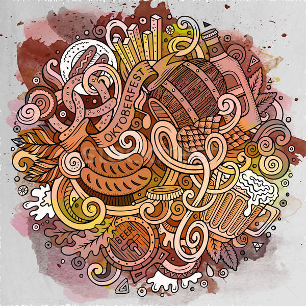 Desenho animado bonitinho cerveja ilustração Foto stock © balabolka