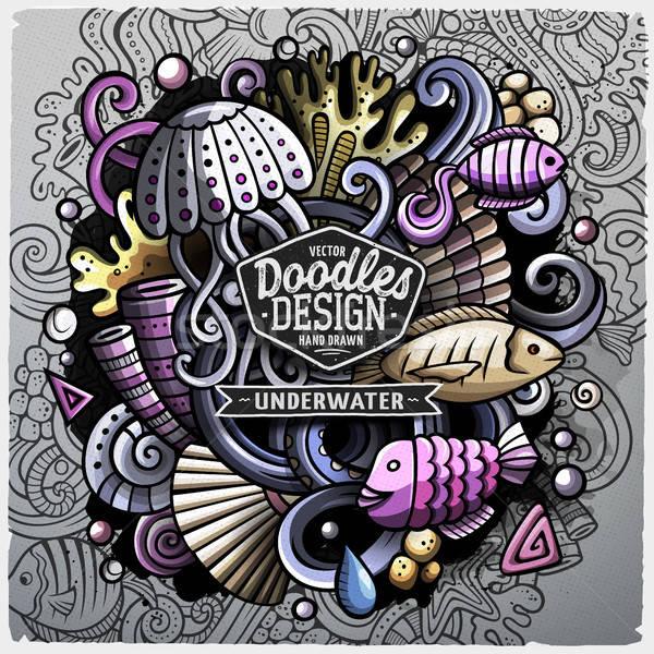 Undersea life cartoon vector doodle illustration Stock photo © balabolka