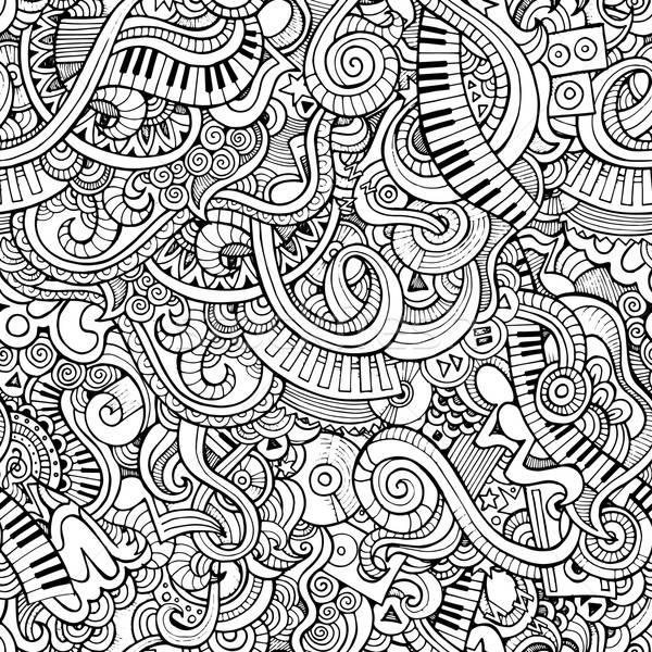 Music pattern Stock photo © balabolka