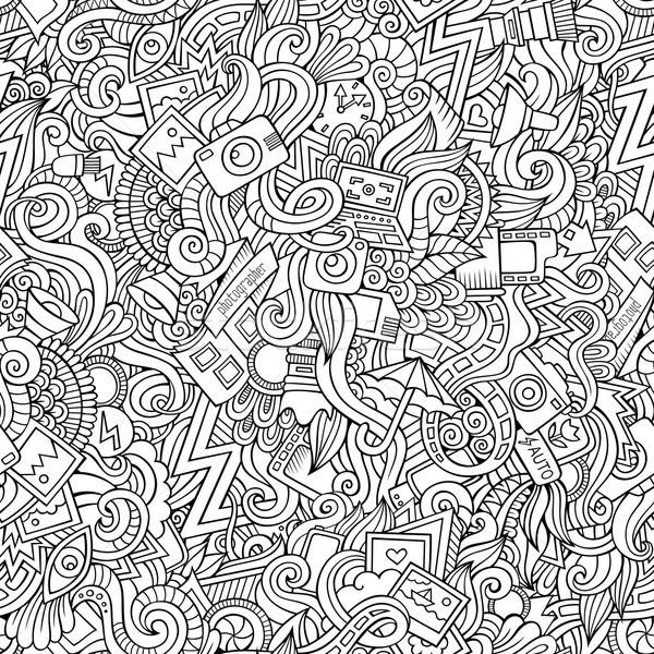 Photography doodles seamless pattern Stock photo © balabolka