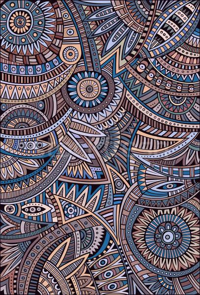 Absztrakt vektor törzsi kisebbségi minta dekoratív Stock fotó © balabolka