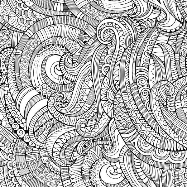 Abstract vector decorative hand drawn nature floral eamless pattern Stock photo © balabolka