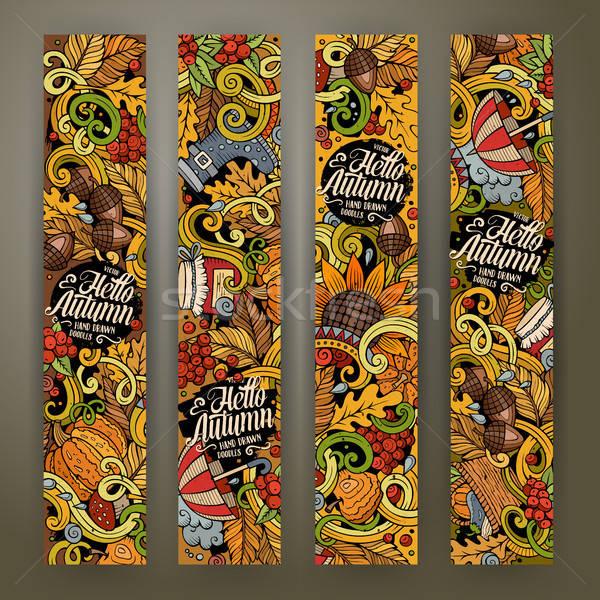 Desenho animado vetor outono banners Foto stock © balabolka