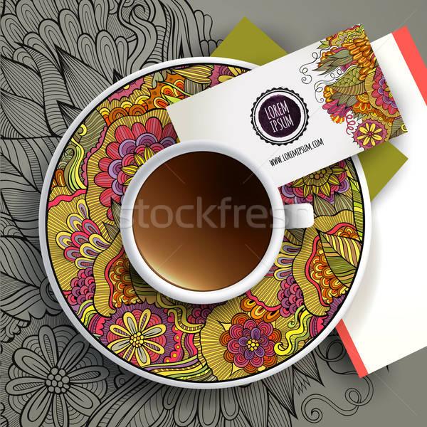 Vector Cup of coffee Stock photo © balabolka