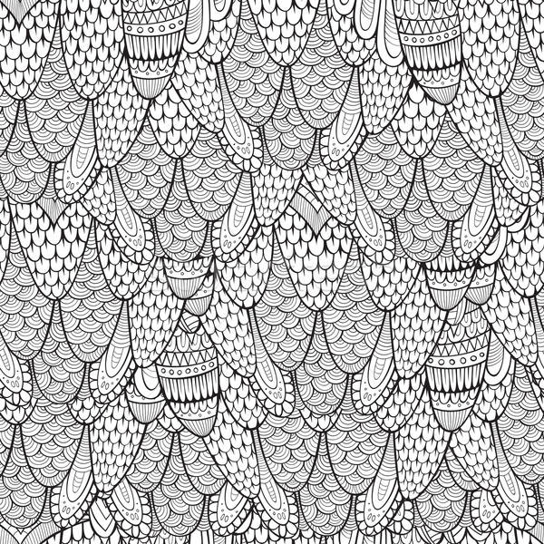 Stock photo: Decorative hand drawn abstract seamless pattern
