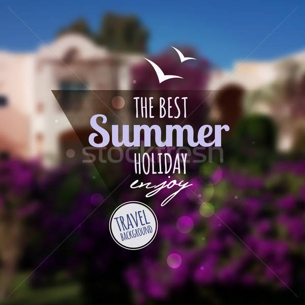 Creative graphic message for your summer design.Vector blurred b Stock photo © balabolka