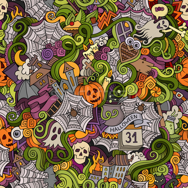 Stockfoto: Cartoon · vector · halloween · symbolen · voedsel