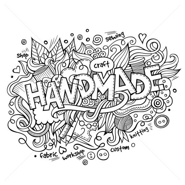 Handmade hand lettering and doodles elements Stock photo © balabolka