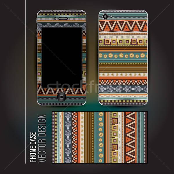 Vettore coprire telefono abstract etnica decorativo Foto d'archivio © balabolka