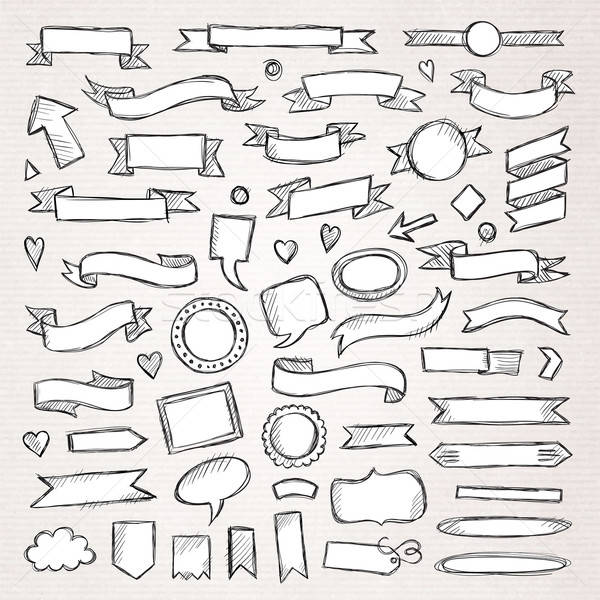 Hand drawn sketch hand drawn elements. Vector illustration. Stock photo © balabolka