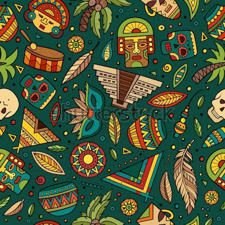 Tribali nativo etnica abstract vettore Foto d'archivio © balabolka