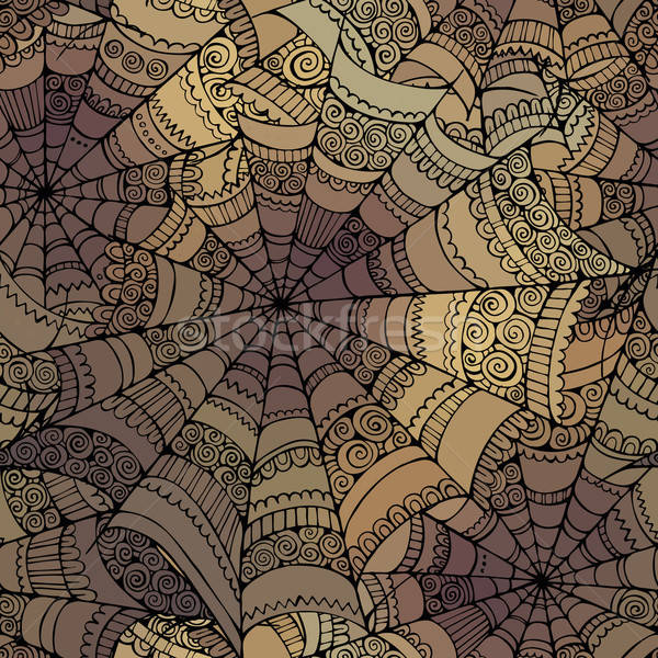 Stock photo: Vector decorative spider web pattern