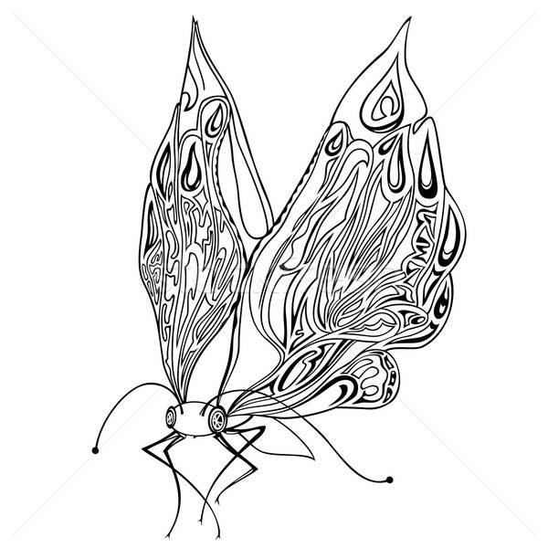 Vector decorative insect butterfly Stock photo © balabolka