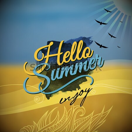 'Hello Summer' Vector blurred background. Stock photo © balabolka