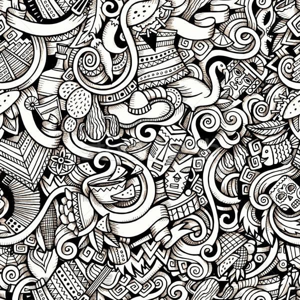 Cartoon hand-drawn Doodles on the subject of Latin American Stock photo © balabolka