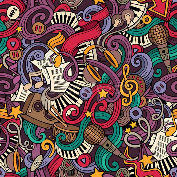 Photo stock: Cartoon · musique · style · vecteur
