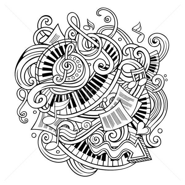 漫画 かわいい 音楽 実例 手描き ストックフォト © balabolka