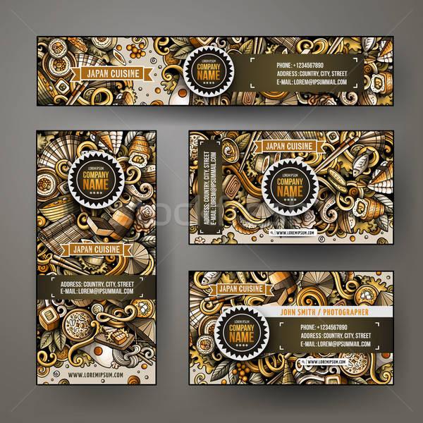 Empresarial identidad vector plantillas establecer diseno Foto stock © balabolka