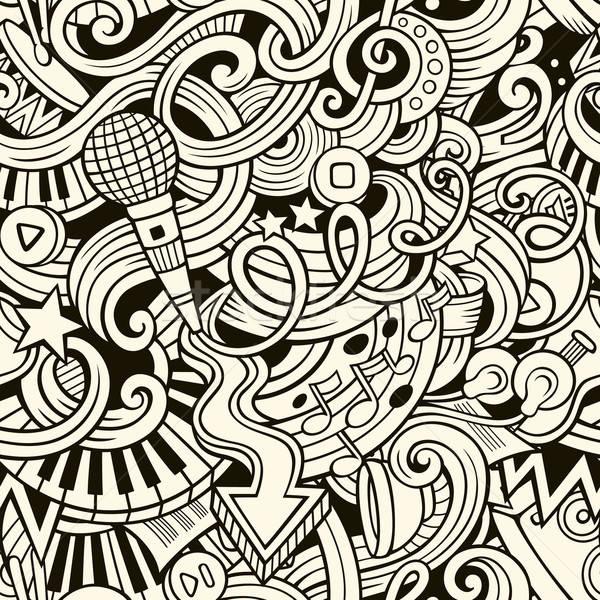 漫畫 塗鴉 音樂 風格 向量 商業照片 © balabolka