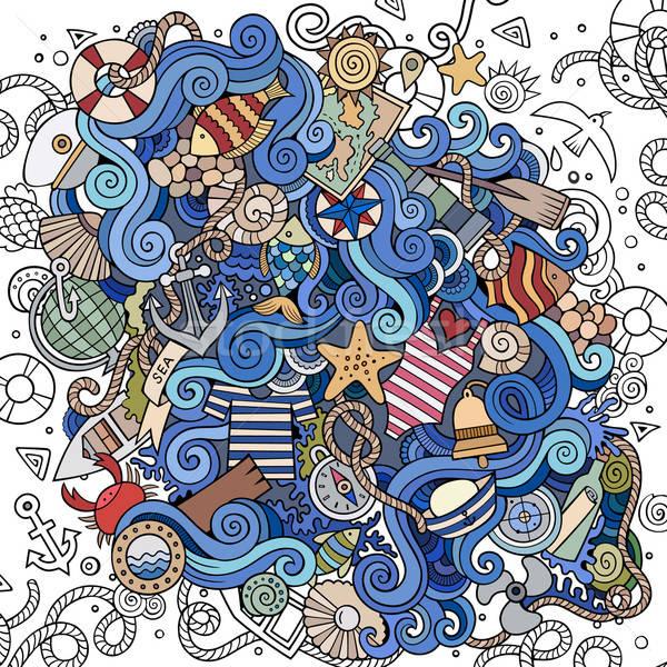 漫画 海洋 実例 カラフル ストックフォト © balabolka