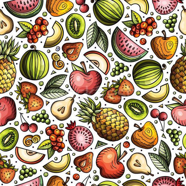 Desenho animado dieta comida símbolos objetos Foto stock © balabolka