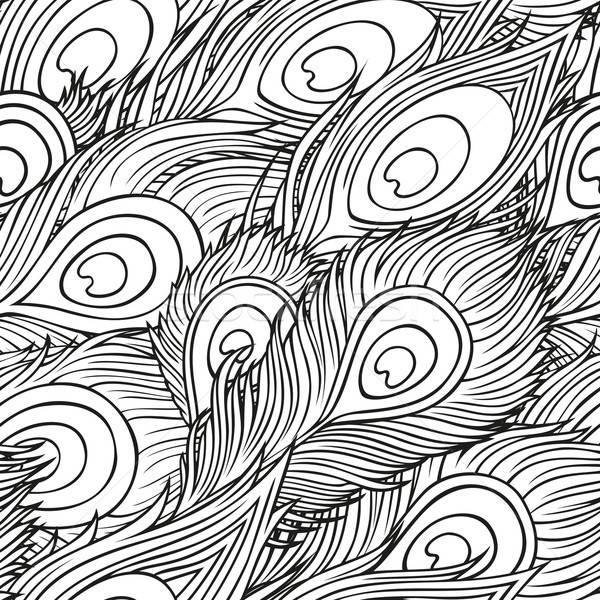 孔雀 羽毛 ヴィンテージ ファッション 自然 ストックフォト © balabolka