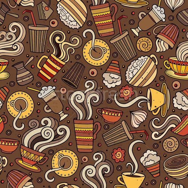 漫画 コーヒーショップ コーヒー カフェ 茶 ストックフォト © balabolka