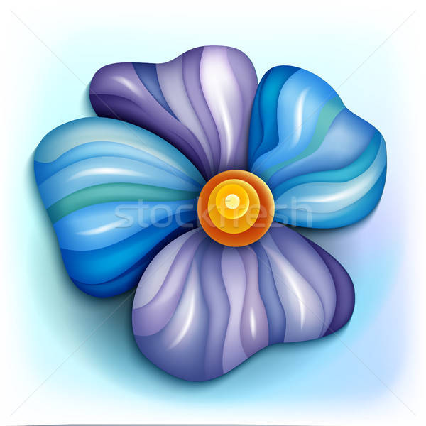 Volumetric abstract fantastic colorful flower Stock photo © balabolka