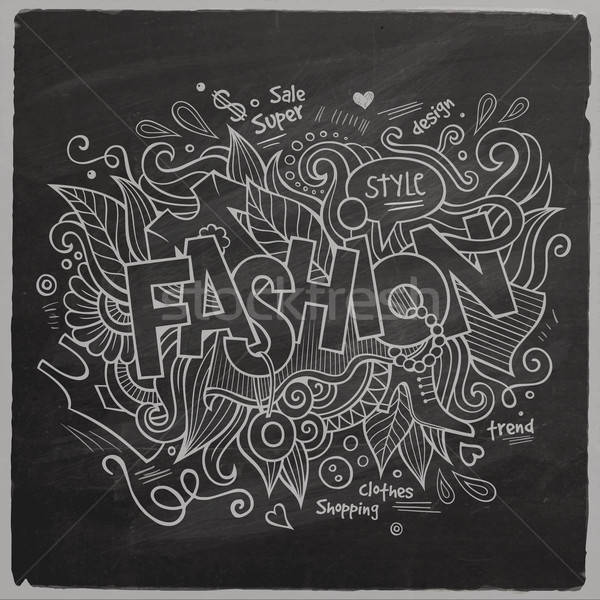 Stock photo: Fashion Vector hand lettering On Chalkboard