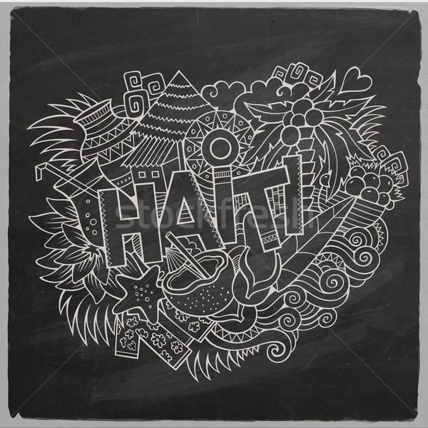 Haïti main symboles vecteur Photo stock © balabolka