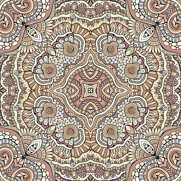 Abstract vector decorative ethnic hand drawn sketchy contour sea Stock photo © balabolka