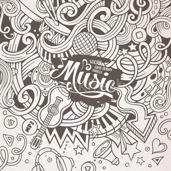 Desenho animado musical ilustração linha Foto stock © balabolka