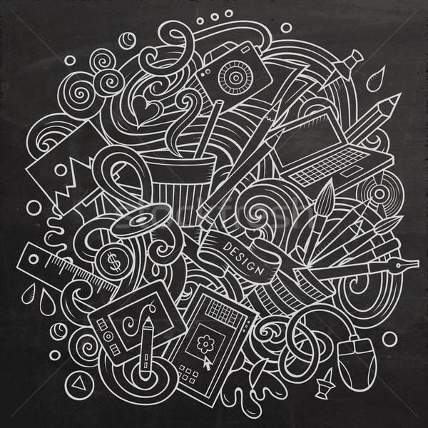 Desenho animado vetor arte projeto ilustração Foto stock © balabolka