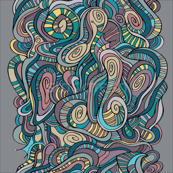 Senza soluzione di continuità abstract onde pattern vettore Foto d'archivio © balabolka