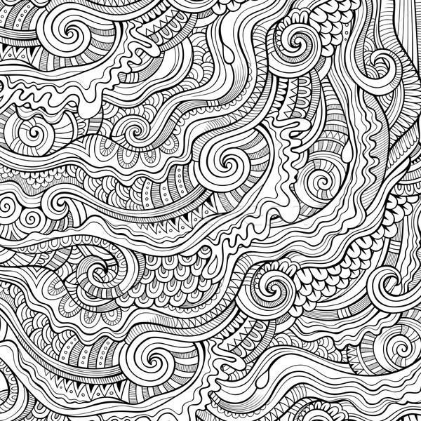 Firkák dekoratív körvonal klasszikus absztrakt díszítő Stock fotó © balabolka