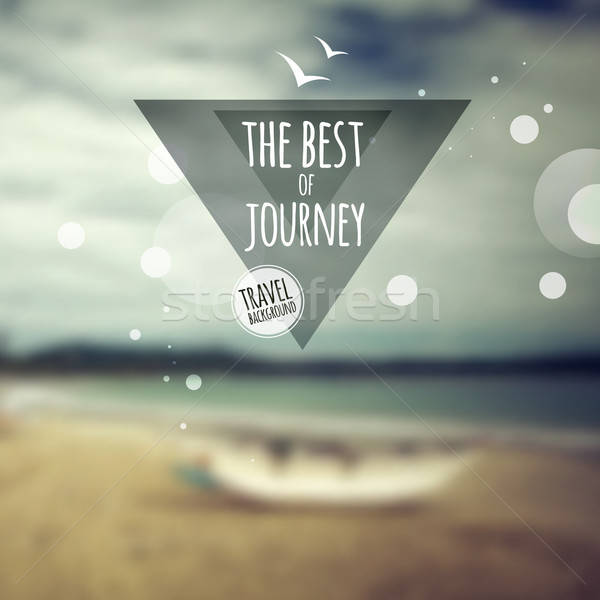 Creative graphic message for your travel design Stock photo © balabolka