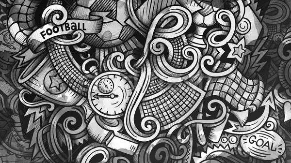 Scarabocchi calcio grafica illustrazione creativo calcio Foto d'archivio © balabolka