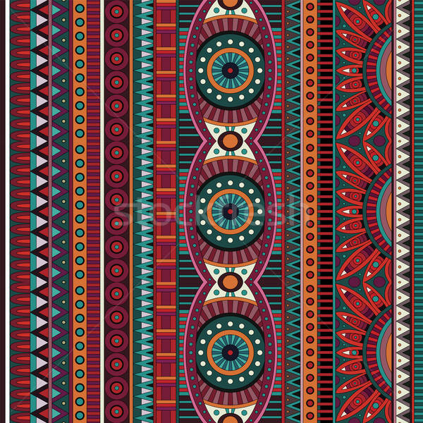 Foto d'archivio: Abstract · vettore · tribali · etnica · texture