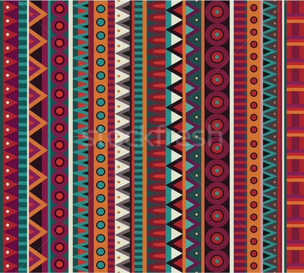 Сток-фото: аннотация · вектора · этнических · оранжевый · текстуры