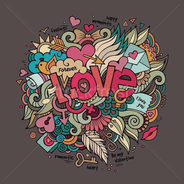 Сток-фото: любви · стороны · Элементы · карт · графических