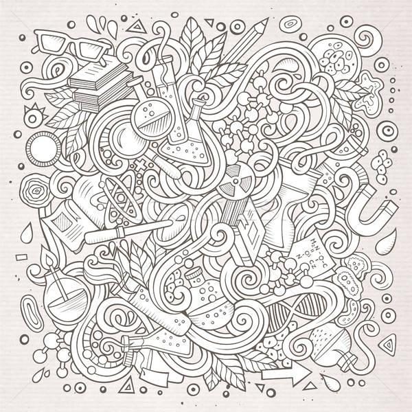 Stok fotoğraf: Karikatür · sevimli · karalamalar · bilim · örnek
