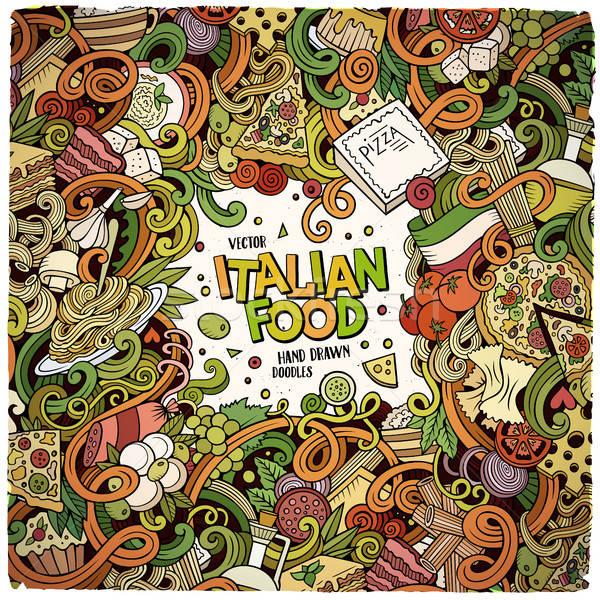 Cartoon итальянской кухни иллюстрация красочный подробный Сток-фото © balabolka