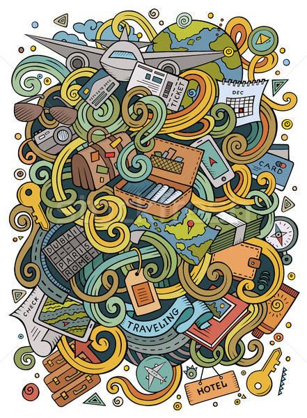 Desenho animado bonitinho ilustração Foto stock © balabolka