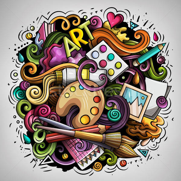 Cartoon vector doodles Art and Design illustration Stock photo © balabolka